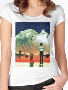Neon Genesis Evangelion: The End of Evangelion Movie Poster  Women's Fitted Scoop T-Shirt