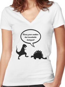 Curse your sudden but inevitable betrayal! Women's Fitted V-Neck T-Shirt