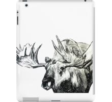 Moose Woodland Animal Snow Edit Illustration On Paper iPad Case/Skin