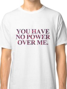 No power - Red Violet Glitter Classic T-Shirt