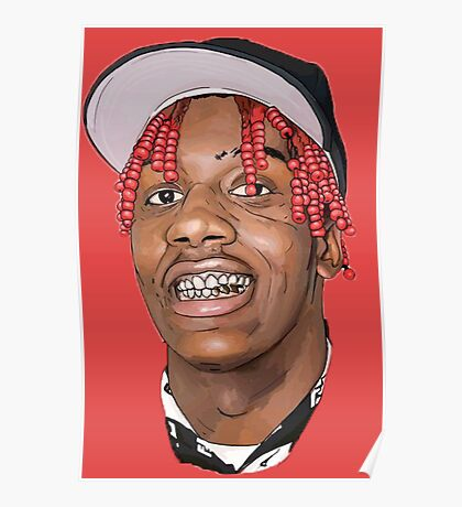 LIL YACHTY FACE Poster