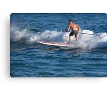 Paddle Boarding In Laguna Beach Canvas Print