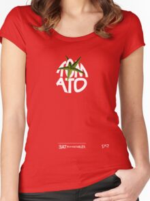 TOMATO - - - - - - - EAT YOUR VEGETABLES Women's Fitted Scoop T-Shirt