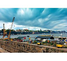 Stockholm Industrial Harbour, SWEDEN Photographic Print