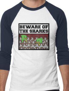 Beware of the sharks Men's Baseball ¾ T-Shirt