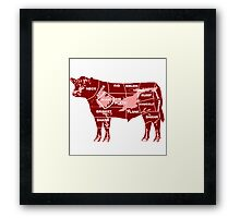 cow-graph Framed Print