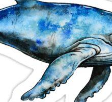 Mr. Whale Blue Sticker