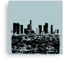 Los Angeles Skyline Stamp  Canvas Print