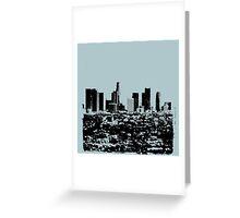 Los Angeles Skyline Stamp  Greeting Card