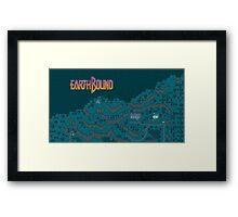 Earthbound - Onett Cliffs at Night with Logo Framed Print