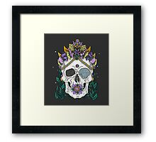 Mermaid Queen, Royal Dead Skull Series Framed Print