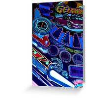 pinball fade Greeting Card