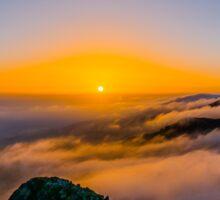 Beautiful sunrise over the Mountain Sticker