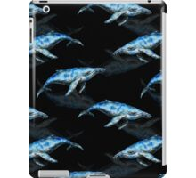 Mr. Whale Black iPad Case/Skin
