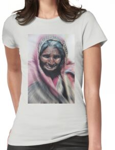 Aged beauty zoom burst Womens Fitted T-Shirt