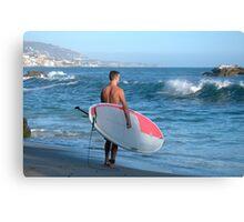Paddle Boarder In Laguna Beach California Canvas Print