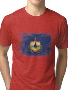 Vermont State Flag Distressed Vintage Shirt Tri-blend T-Shirt