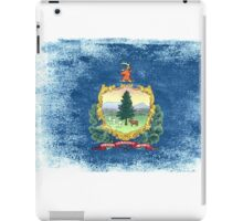 Vermont State Flag Distressed Vintage Shirt iPad Case/Skin