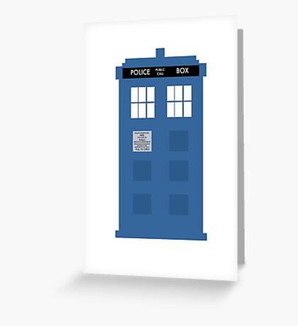 TARDIS - Doctor Who - Police Box Greeting Card