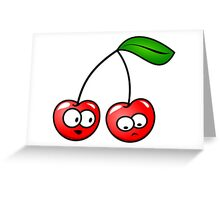 Cherry Fruit Red Beautiful Greeting Card