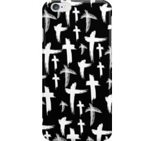 Crosses (white) iPhone Case/Skin