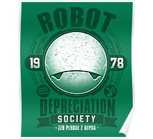 Robot Depreciation Society - Marvin the Paranoid Android Poster