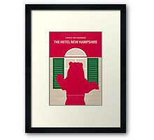 No443 My The Hotel New Hampshire minimal movie poster Framed Print