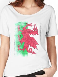 Wales Flag Proud Welsh Vintage Distressed Shirt Women's Relaxed Fit T-Shirt