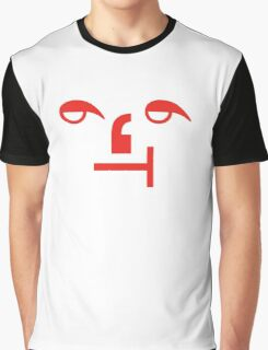 Typographic Face I Graphic T-Shirt