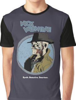 Synth. Detective. Smartass. Graphic T-Shirt