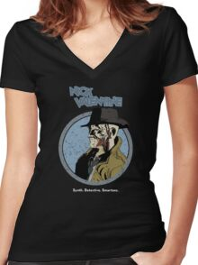 Synth. Detective. Smartass. Women's Fitted V-Neck T-Shirt