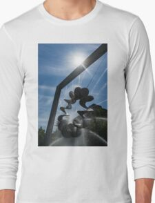 Spiral Sculpture Fountain with a Sun Flare Long Sleeve T-Shirt