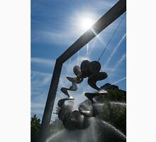 Spiral Sculpture Fountain with a Sun Flare Unisex T-Shirt