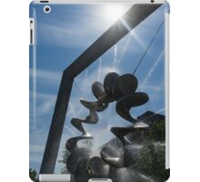 Spiral Sculpture Fountain with a Sun Flare iPad Case/Skin