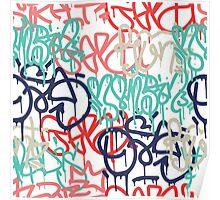 Graffiti background seamless pattern Poster