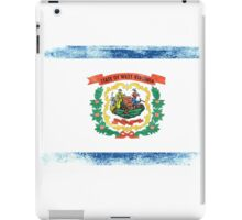 West Virginia State Flag Distressed Vintage Shirt iPad Case/Skin