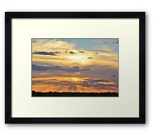 Sunset Background - Tranquil Harmony of Beauty  Framed Print