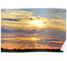 Sunset Background - Tranquil Harmony of Beauty  Poster