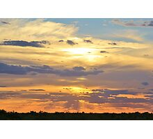Sunset Background - Tranquil Harmony of Beauty  Photographic Print