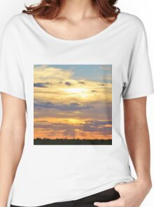 Sunset Background - Tranquil Harmony of Beauty  Women's Relaxed Fit T-Shirt