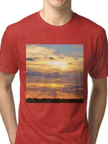 Sunset Background - Tranquil Harmony of Beauty  Tri-blend T-Shirt
