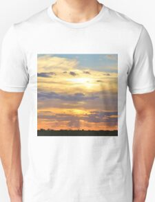 Sunset Background - Tranquil Harmony of Beauty  T-Shirt