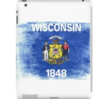 Wisconsin State Flag Distressed Vintage Shirt iPad Case/Skin