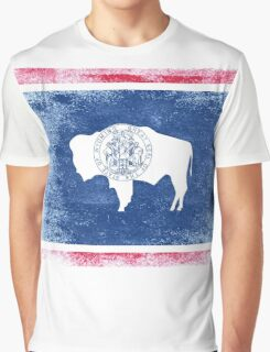 Wyoming State Flag Distressed Vintage Shirt Graphic T-Shirt