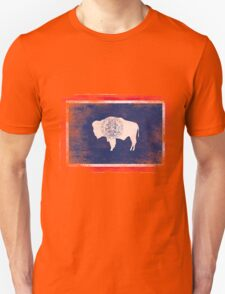 Wyoming State Flag Distressed Vintage Shirt Unisex T-Shirt
