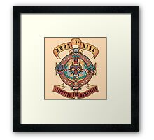 Guns and Roses zelda majora Framed Print