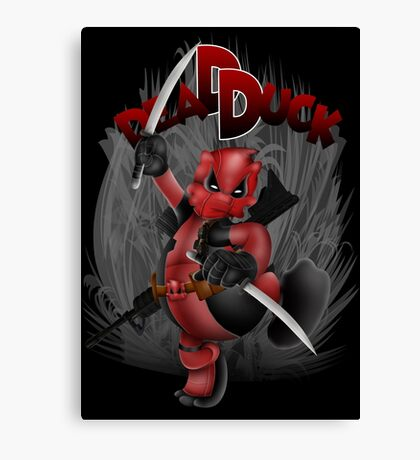 The Dead Duck Red Black Ninja Canvas Print