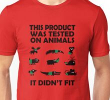 PRODUCT tested on animals Unisex T-Shirt