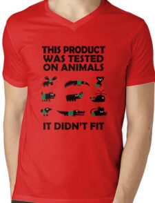 PRODUCT tested on animals Mens V-Neck T-Shirt