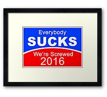 2016 Election Candidates Presidential Framed Print